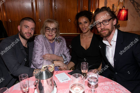 Jamie Lloyd (Director), Antonia Fraser, Indira Varma and Tom Hiddleston