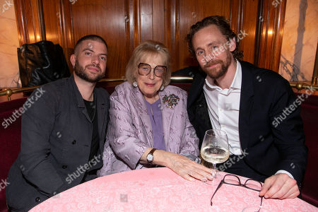 Stock Picture of Jamie Lloyd (Director), Antonia Fraser and Tom Hiddleston