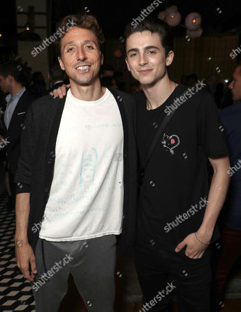 Author Nic Sheff and Timothee Chalamet