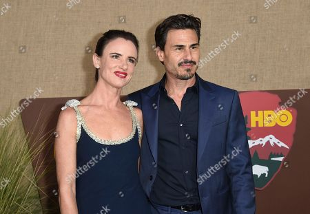 "Stock Image of Juliette Lewis, Brad Wilk. Juliette Lewis, left, and Brad Wilk arrive at the Los Angeles premiere of ""Camping"", at Paramount Studios"