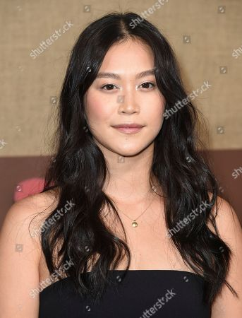 """Dianne Doan arrives at the Los Angeles premiere of """"Camping"""", at Paramount Studios"""