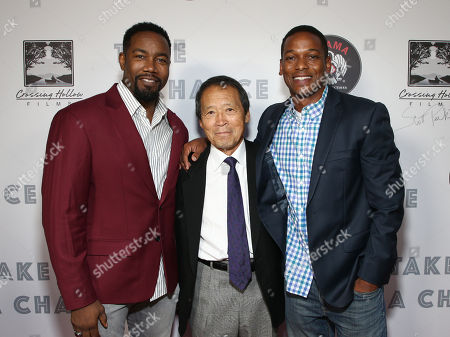 Stock Image of Michael Jai White, Director/producer Saiko Shihan Y. Oyama and Delpaneaux Wills