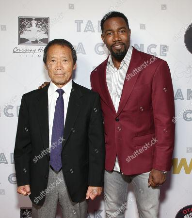 Director/producer Saiko Shihan Y. Oyama and Michael Jai White