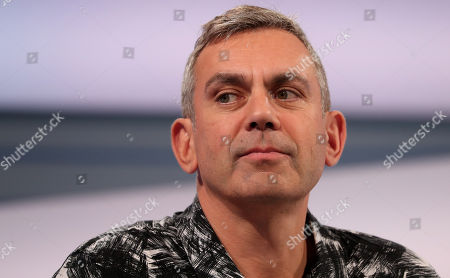 Stock Image of Vladimir Kaminer, Russian-German writer and columnist speaks at the forum 'ARD Stage' during the book fair 'Frankfurter Buchmesse 2018' in Frankfurt am Main, Germany, 11 October 2018. The 70th edition of the international Frankfurt Book Fair, described as the 'world's most important fair for the print and digital content business' runs from 10 to 14 October and gathers authors, writers and celebrities from all over the world. This year's Guest of Honour country is Georgia.