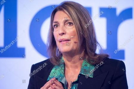 Stock Picture of Carolyn McCall DBE, CEO of ITV in conversation at the Festival of Marketing held at Tobacco Dock.