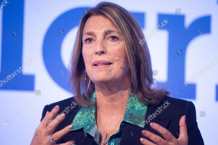 Stock Image of Carolyn McCall DBE, CEO of ITV in conversation at the Festival of Marketing held at Tobacco Dock.