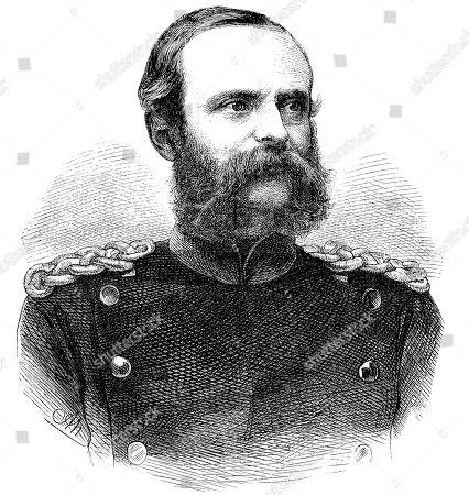 Friedrich Alexander Graf von Bismarck-Bohlen, also Frederick v. Bismarck-Bohlen, June 25, 1818, May 9, 1894, woodcut, Germany