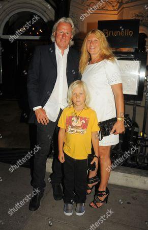 Bjorn Borg, wife Patricia Ostfeldt and son