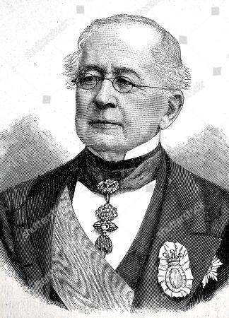Prince Alexander Mikhailovich Gorchakov, June 4, 1798, March 11, 1883, woodcut, Russia