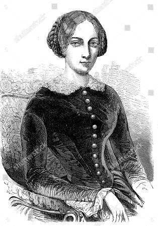 Maria Alexandrovna, born Princess Marie of Hesse and by Rhine, 1824, 1880, Empress consort of Russia as the first wife of Emperor Alexander II, woodcut, Russia