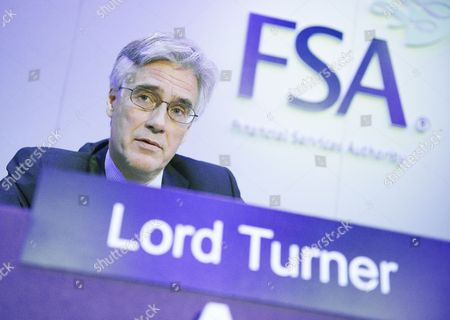 Lord Adair Turner, Chairman of the FSA, at the FSA's annual meeting at Chiswell Street Brewery
