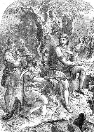 Henry, Duke of Saxony, elected to the German King, Henry the Fowler, Heinrich der Finkler or Heinrich der Vogler, 874 bis 936, woodcut, Germany