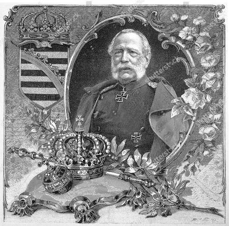 Albert, Frederick Augustus Albert Anton Ferdinand Joseph Karl Maria Baptist Nepomuk Wilhelm Xaver Georg Fidelis, 1828, 1902, German King of Saxony, woodcut, Germany