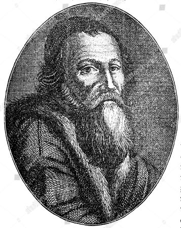 Stock Picture of John Amos Comenius, Jan Amos Komensky, a Czech philosopher, pedagogue and theologian from the Margraviate of Moravia, 1592, 1670, woodcut, France