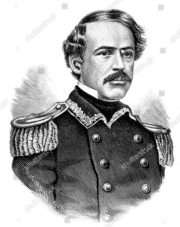 Robert Edward Lee, January 19, 1807, October 12, 1870 commander of the Confederate States Army, woodcut, America