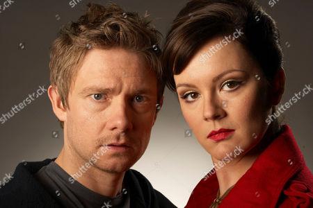 'Boy Meets Girl'  TV - 2009 -  Danny [Martin Freeman] and Veronica [Rachael Stirling].