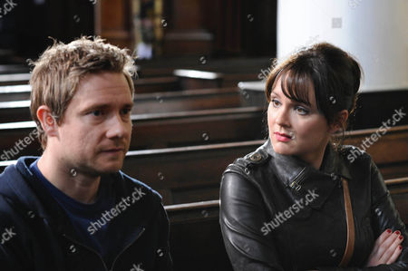'Boy Meets Girl'  TV - 2009 -  Danny [Martin Freeman] and Veronica [Rachael Stirling] who finally meet for the first time.