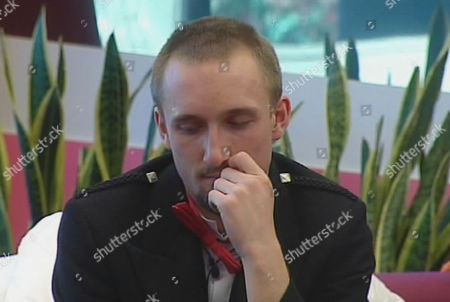 Freddie aka Halfwit after finding out that he has been nominated for eviction