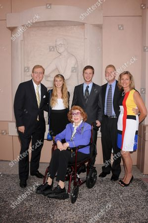 Jayne Meadows with son Bill, children Amanda, Bobby, Brad, wife Marie