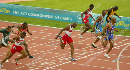 Commonwealth Games Manchester 2002 ......mens 200m Frankie Fredericks Marlon Devonish And Darren Campbell Take The Medals