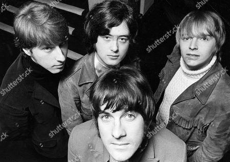 The Yardbirds - Chris Dreja, Jimmy Page, Jim McCarty and Keith Relf