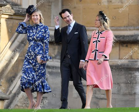 Jimmy Carr and Karoline Copping and Martha Ward