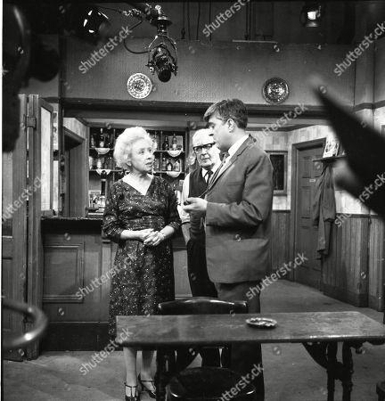 Doris Speed (as Annie Walker), Arthur Leslie (as Jack Walker) and Ivan Beavis (as Harry Hewitt)