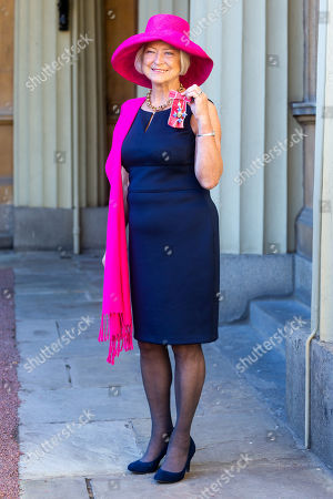 Broadcaster and journalist Kate Adie with her OBE for services to Media
