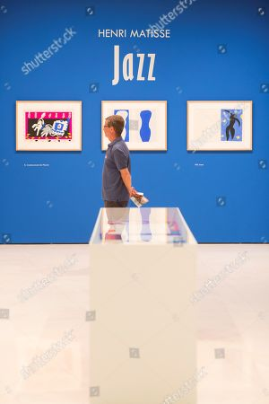 A visitor looks at artworks during the opening of the exhibition 'Henri Matisse. Jazz' at the Carmen Thyssen Museum in Malaga, Andalusia, Spain, 11 October 2018. The exhibit runs until 13 January 2019.