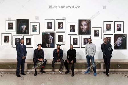 Stock Picture of Terry Jervis, Charlie Casely-Hayford, Shevelle Dynott, Simon Frederick - the artist/photographer, Noel Clarke and Ekow Eshun