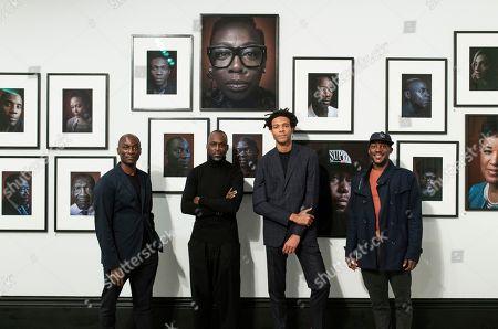 Ekow Eshun, Simon Frederick - the artist/photographer, Charlie Casely-Hayford, Shevelle Dynott, Simon Frederick - the artist/photographer and Noel Clarke