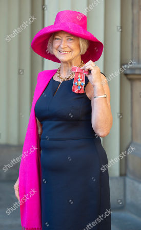 Kate Adie, Journalist and Radio Presenter with her OBE for services to Media.