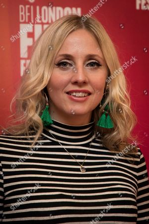 Sinead Matthews poses for photographers upon arrival at the screening of the film 'Happy New Year, Colin Burstead' showing as part of the BFI London Film Festival in London