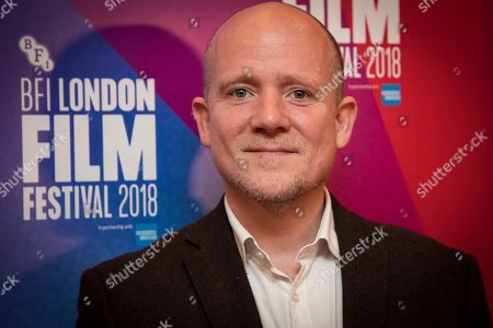 Stock Photo of Richard Glover poses for photographers upon arrival at the screening of the film 'Happy New Year, Colin Burstead' showing as part of the BFI London Film Festival in London