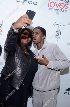 Stock Photo of Bevy Smith and Christian Combs