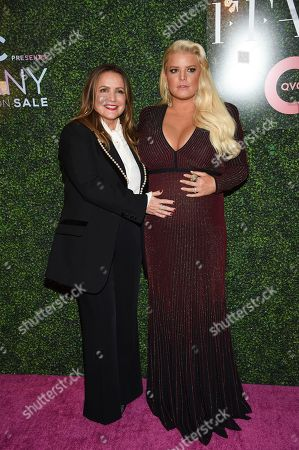 """Stock Image of Tina Simpson, Jessica Simpson. Fashion icon award honoree Jessica Simpson, right, and mother Tina Simpson attend QVC's """"FFANY Shoes on Sale"""" 25th anniversary gala at the Ziegfeld Ballroom, in New York"""