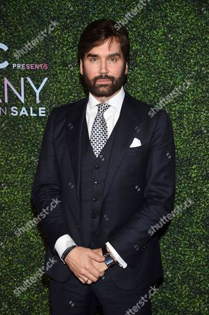 """Footwear News editorial director Michael Atmore attends QVC's """"FFANY Shoes on Sale"""" 25th anniversary gala at the Ziegfeld Ballroom, in New York"""