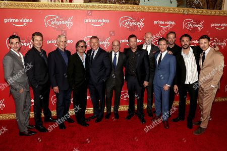 Stock Photo of Juan Pablo Castaneda, Jon Tenney, James Naughton, Griffin Dunne, Paul Reiser, Writer, Executive Producer and Director Matthew Weiner, Aaron Eckhart, Corey Stoll, Mike Doyle, Amazon Studios Head of Drama Nick Hall, Jack Huston, JJ Feild