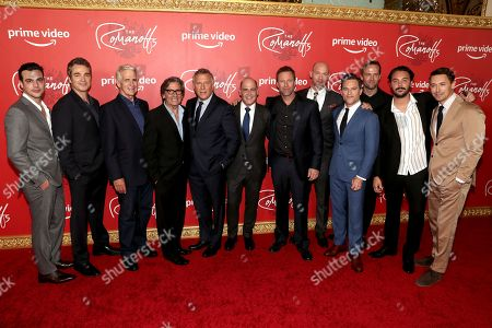 Stock Picture of Juan Pablo Castaneda, Jon Tenney, James Naughton, Griffin Dunne, Paul Reiser, Writer, Executive Producer and Director Matthew Weiner, Aaron Eckhart, Corey Stoll, Mike Doyle, Amazon Studios Head of Drama Nick Hall, Jack Huston, JJ Feild