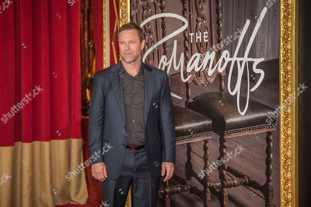 """Aaron Eckhart attends the premiere of Amazon's new anthology series """"The Romanoffs"""" at The Russian Tea Room, in New York"""
