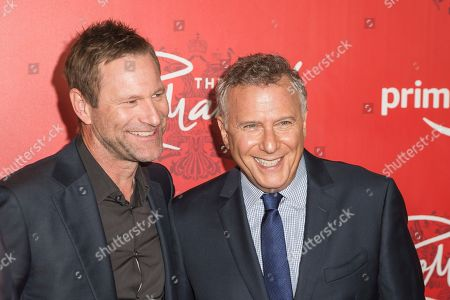 """Stock Image of Aaron Eckhart, Paul Reiser. Actor Aaron Eckhart, left, and Actor / Comedian Paul Reiser attend the premiere of Amazon's new anthology series """"The Romanoffs"""" at The Russian Tea Room, in New York"""