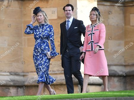 British comedian Jimmy Carr (C) arrives to the royal wedding ceremony of Princess Eugenie of York and Jack Brooksbank at St George's Chapel at Windsor Castle, in Windsor, Britain, 12 October 2018.