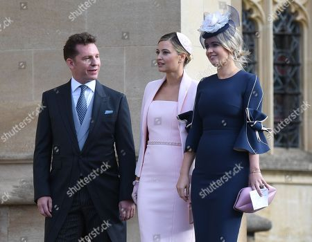 British businessman Nick Candy (L) and Holly Candy (C)  arrive to the royal wedding ceremony of Princess Eugenie of York and Jack Brooksbank at St George's Chapel at Windsor Castle, in Windsor, Britain, 12 October 2018.
