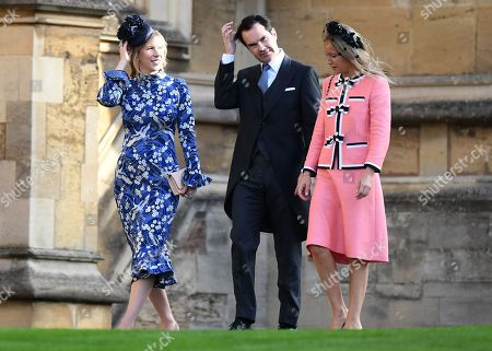 British comedian Jimmy Carr arrives to the royal wedding ceremony of Princess Eugenie of York and Jack Brooksbank at St George's Chapel at Windsor Castle, in Windsor, Britain, 12 October 2018.
