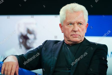 Stock Photo of German actor Miroslav Nemec speaks at the authors' forum 'Blue Sofa' during the 'Frankfurter Buchmesse 2018' in Frankfurt Main, Germany, 12 October 2018. The 70th edition of the international Frankfurt Book Fair, described as the 'world's most important fair for the print and digital content business' runs from 10 to 14 October and gathers authors, writers and celebrities from all over the world. This year's Guest of Honour country is Georgia.