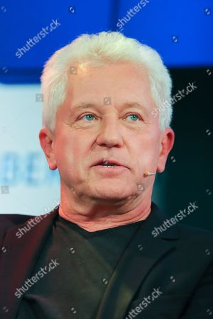 German actor Miroslav Nemec speaks at the authors' forum 'Blue Sofa' during the 'Frankfurter Buchmesse 2018' in Frankfurt Main, Germany, 12 October 2018. The 70th edition of the international Frankfurt Book Fair, described as the 'world's most important fair for the print and digital content business' runs from 10 to 14 October and gathers authors, writers and celebrities from all over the world. This year's Guest of Honour country is Georgia.