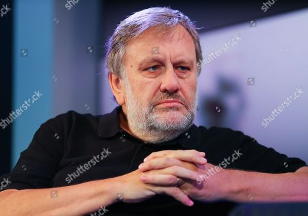 Slovenian philosopher Slavoj Zizek speaks at the authors' forum 'Blue Sofa' during the book fair 'Frankfurter Buchmesse 2018', in Frankfurt am Main, Germany, 12 October 2018. The 70th edition of the international Frankfurt Book Fair, described as the 'world's most important fair for the print and digital content business' runs from 10 to 14 October and gathers authors, writers and celebrities from all over the world. This year's Guest of Honour country is Georgia.