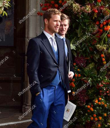 Sam Branson departs after the wedding of Princess Eugenie to Jack Brooksbank at St George's Chapel, Windsor Castle, near London, England