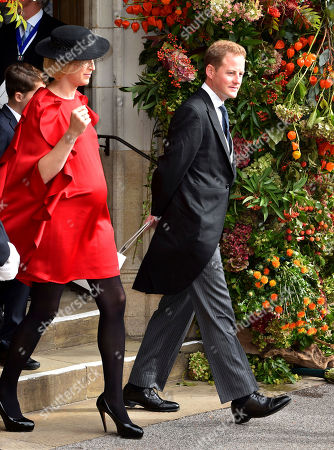 Guy Pelly after the wedding of Princess Eugenie to Jack Brooksbank at St George's Chapel, Windsor Castle, near London, England