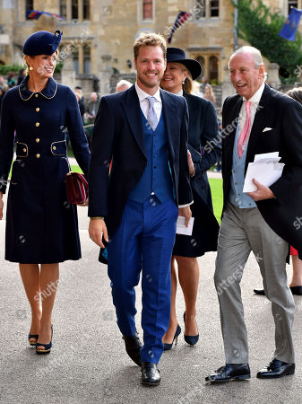 Sam Branson arrives for the wedding of Princess Eugenie of York and Jack Brooksbank at St George's Chapel, Windsor Castle, near London, England